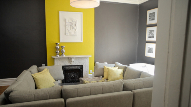 D co salon jaune exemples d 39 am nagements - Deco salon jaune ...