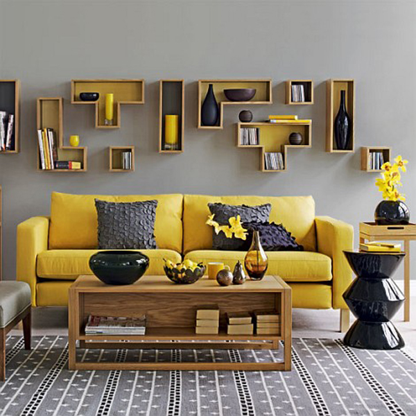Déco salon jaune - Exemples d\'aménagements