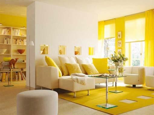 Deco Salon Jaune Et Marron Exemples D Amenagements