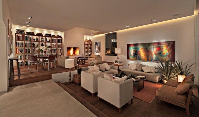 D co salon marron beige exemples d 39 am nagements - Deco salon marron beige ...