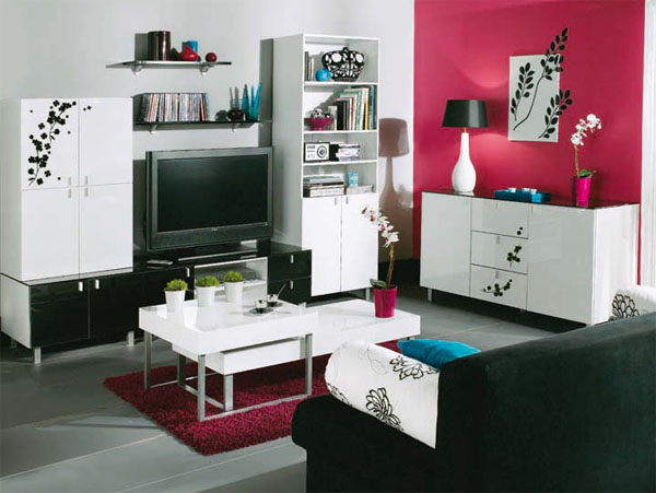 d co salon petit appartement exemples d 39 am nagements. Black Bedroom Furniture Sets. Home Design Ideas