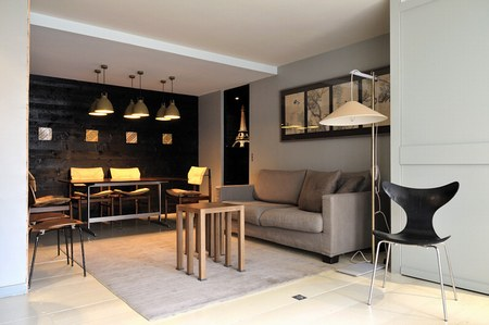 D co salon petit appartement exemples d 39 am nagements for Petit salon design deco