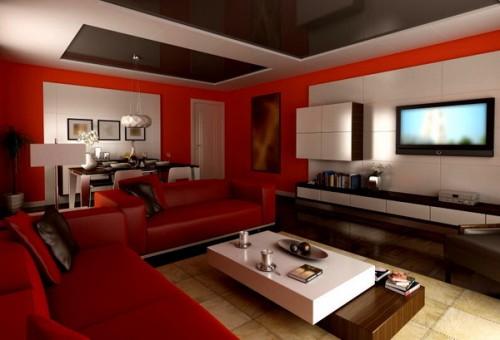 Best Deco Salon Beige Et Rouge Ideas - Design Trends 2017