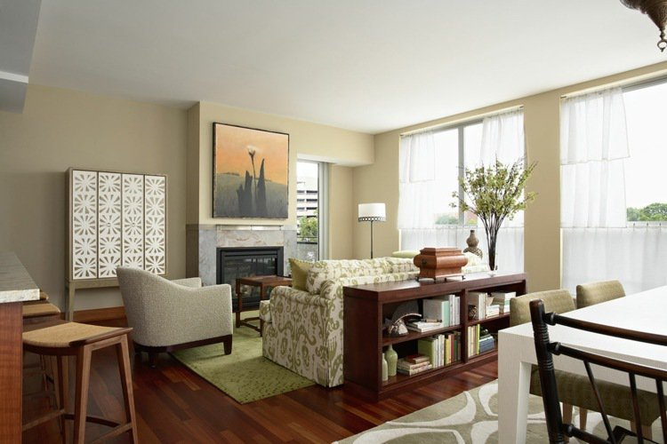 déco salon salle a manger petit espace - exemples d'aménagements - Exemple De Salon Salle A Manger