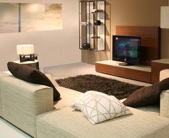 D co salon style contemporain exemples d 39 am nagements - Deco style contemporain ...