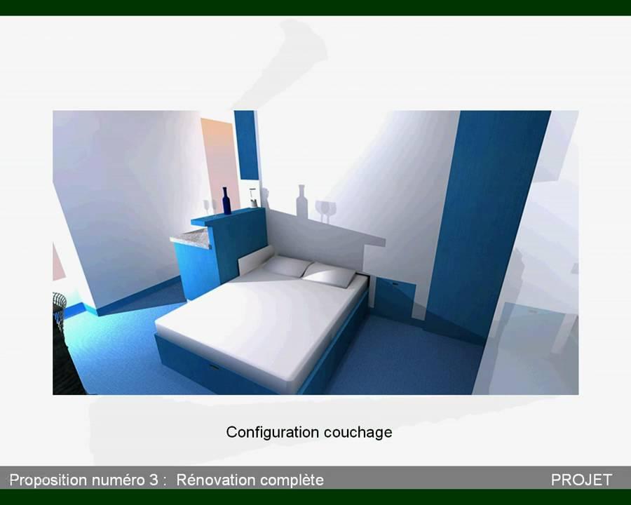 d co studio 13m2 exemples d 39 am nagements. Black Bedroom Furniture Sets. Home Design Ideas