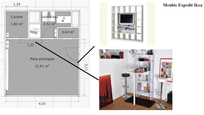 D co studio 18m2 exemples d 39 am nagements - Exemple amenagement studio ...