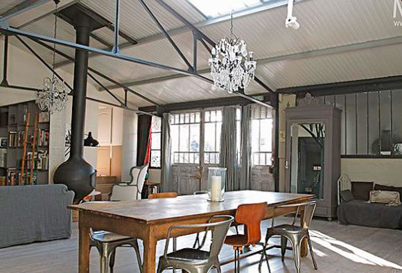 D co style usine loft exemples d 39 am nagements for Meuble usine deco