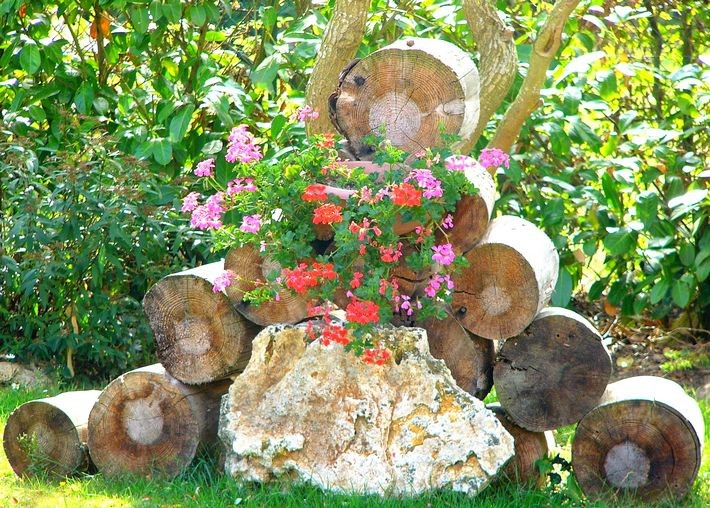 D co sympa jardin exemples d 39 am nagements for Decoration de jardin en bois