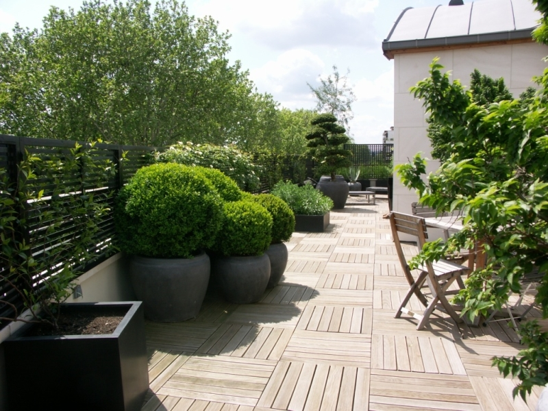 D co terrasse immeuble exemples d 39 am nagements for Amenagement terrasse exterieure appartement