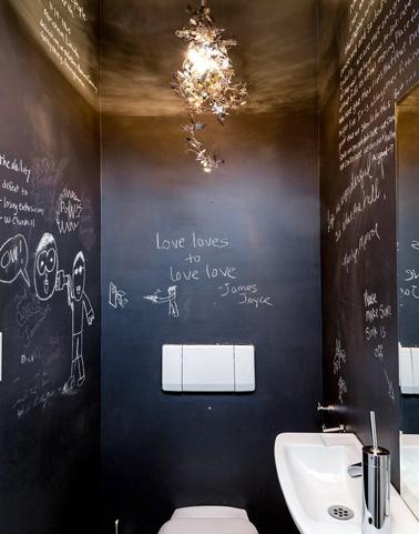 Déco toilettes noir - Exemples d\'aménagements