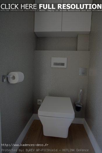 Déco wc contemporaine - Exemples d\'aménagements