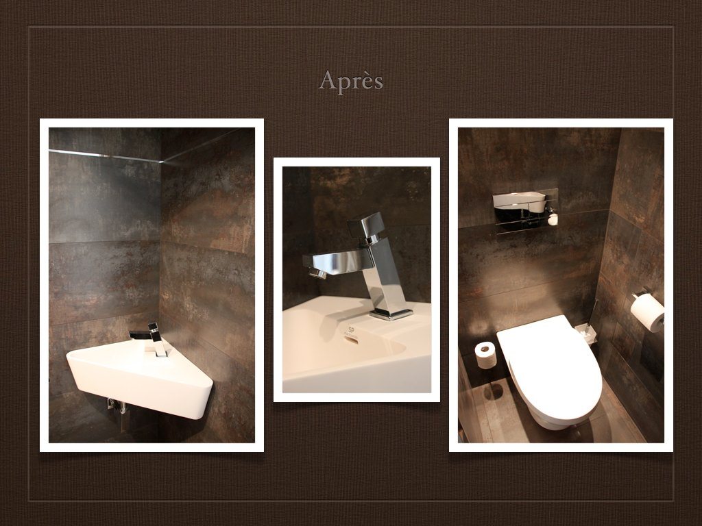 D co wc en longueur exemples d 39 am nagements for Amenagement salle de bain original