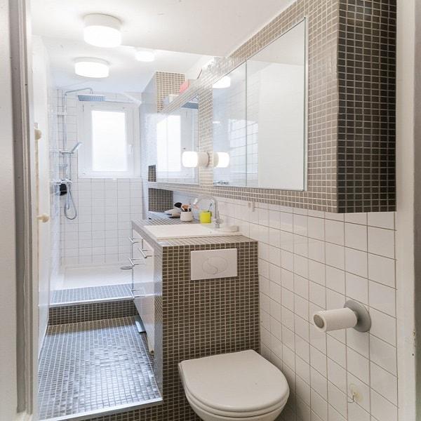 D co wc en longueur exemples d 39 am nagements - Exemple deco wc ...
