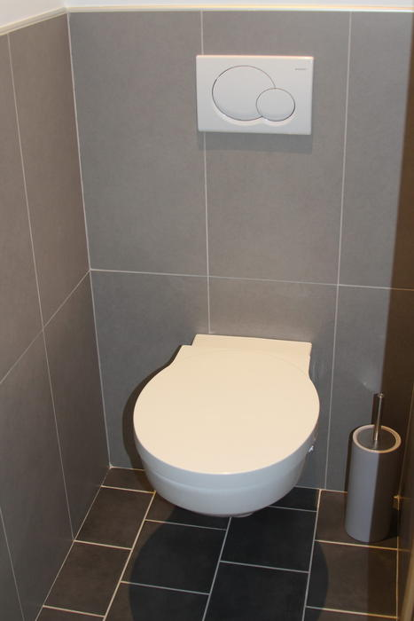 D co wc carrelage gris for Carrelage wc gris