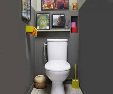 D co wc gris exemples d 39 am nagements - Exemple deco wc ...