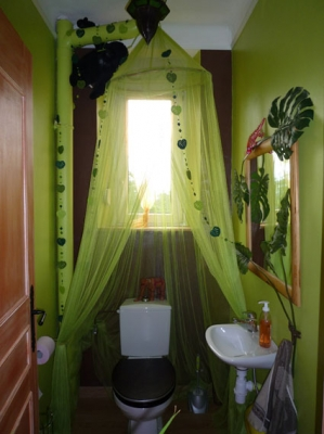 d co wc jungle exemples d 39 am nagements. Black Bedroom Furniture Sets. Home Design Ideas