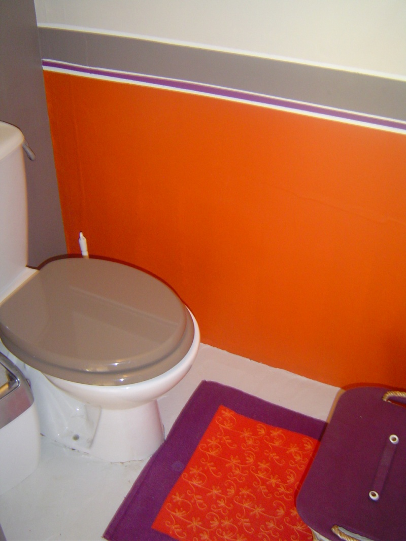 D co wc orange exemples d 39 am nagements for Photo deco wc