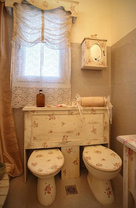 D co wc shabby for Deco shabby campagne