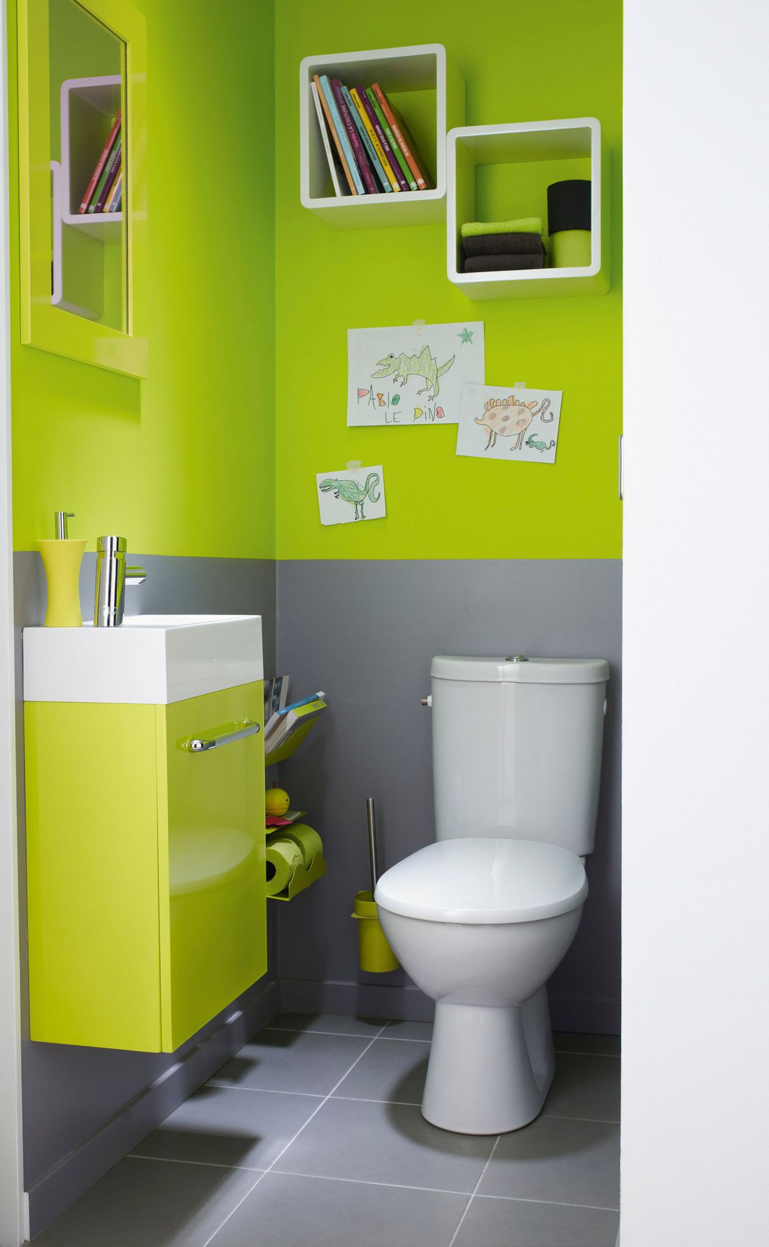 d co wc vert exemples d 39 am nagements. Black Bedroom Furniture Sets. Home Design Ideas