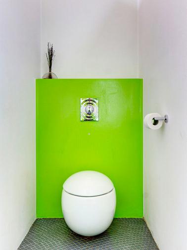 D co wc vert exemples d 39 am nagements - Exemple deco wc ...