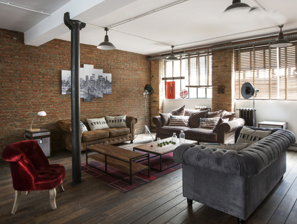 D coration appartement style loft for Decoration appartement
