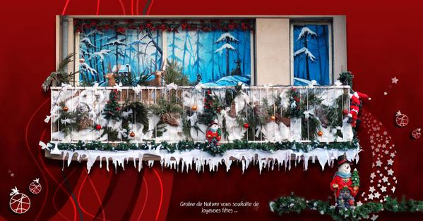 D coration balcon pour noel exemples d 39 am nagements for Decoration jardin pour noel