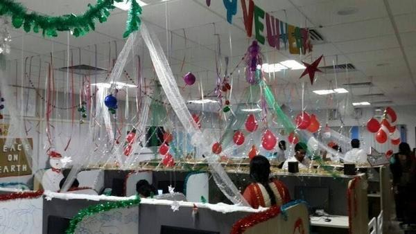 Décoration Bureau Pour Noel : Décoration noel pour bureau ecio