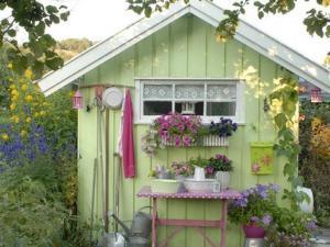 D coration cabane jardin - Cabane de jardin en resine ...