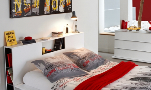D coration chambre americaine exemples d 39 am nagements - Decoration chambre new york ...