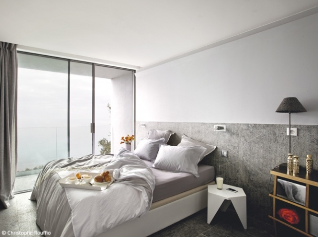 D coration chambre avec mur gris exemples d 39 am nagements for Decoration chambre design