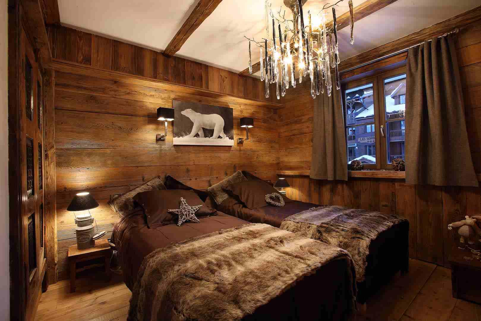 Décoration chambre bois montagne - Exemples d\'aménagements