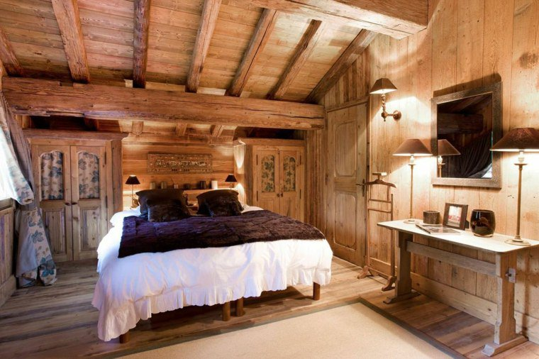 d coration chambre bois montagne exemples d 39 am nagements. Black Bedroom Furniture Sets. Home Design Ideas