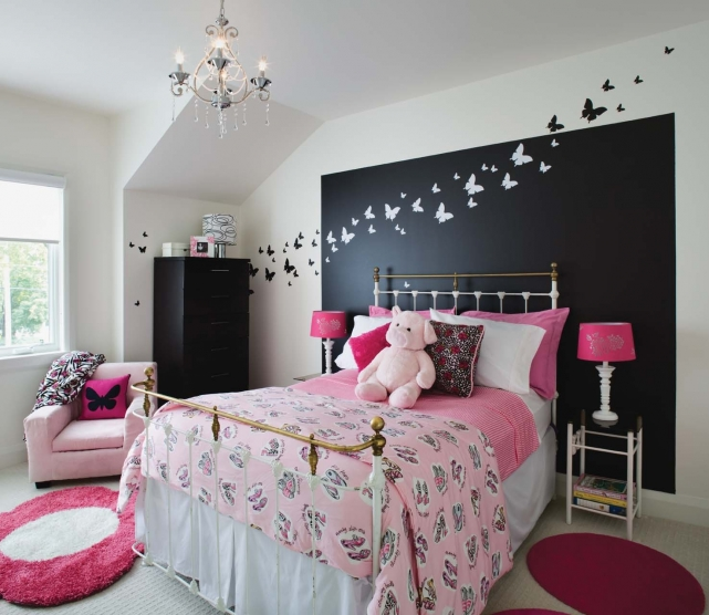 d coration de chambre ado fille. Black Bedroom Furniture Sets. Home Design Ideas