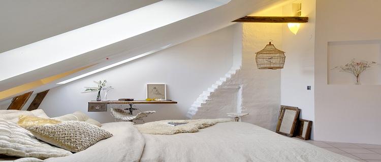 D coration chambre en beige exemples d 39 am nagements - Idee deco chambre mansardee ...