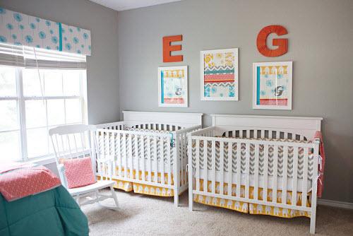 Décoration chambre jumelles - Exemples d\'aménagements