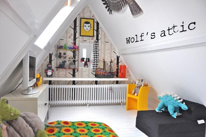 Décoration chambre mansardee garcon - Exemples d\'aménagements
