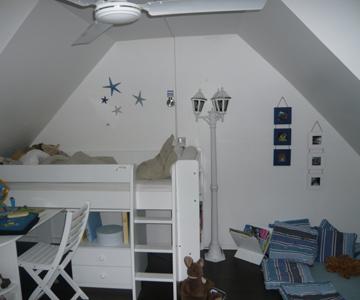 modèle décoration chambre mansardee garcon