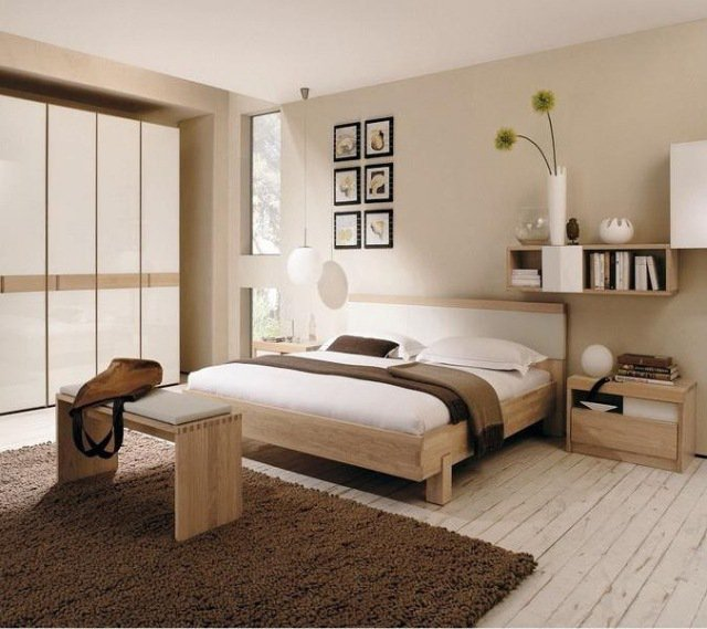 d coration chambre meuble bois. Black Bedroom Furniture Sets. Home Design Ideas