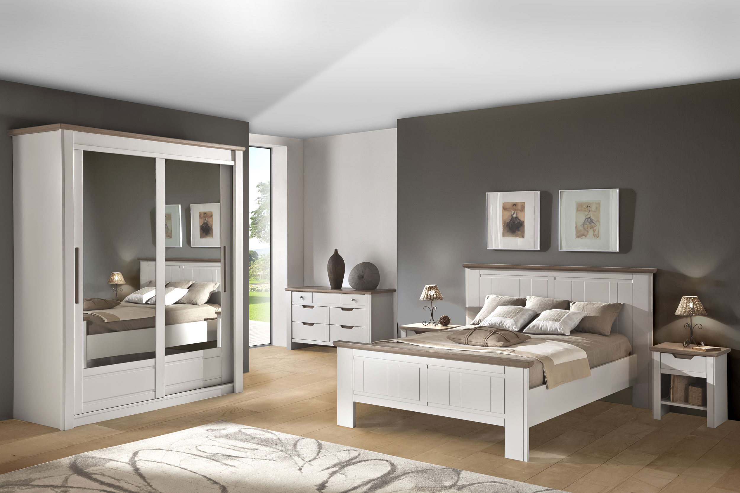D coration chambre meuble bois exemples d 39 am nagements for Exemple de chambre adulte