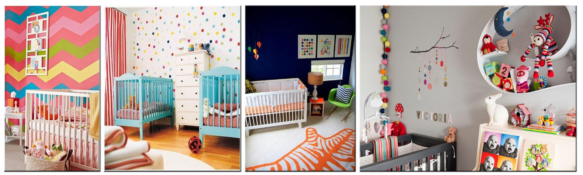 guirlande tissu maison maisonnette déco chambre enfant multicolore :