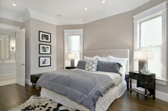 Décoration chambre mur gris - Exemples d\'aménagements