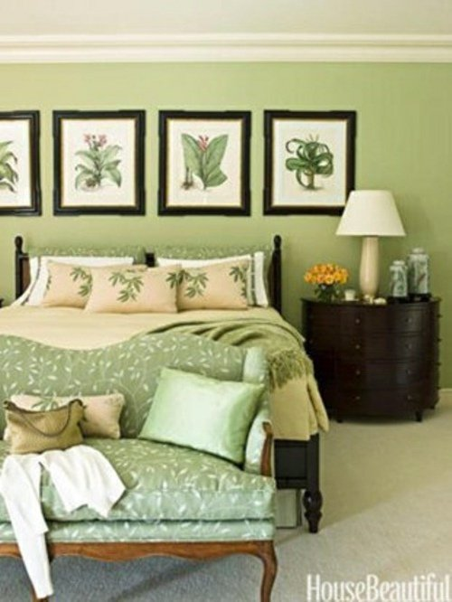 Chambre mur vert design de maison - Decoration mur chambre ...