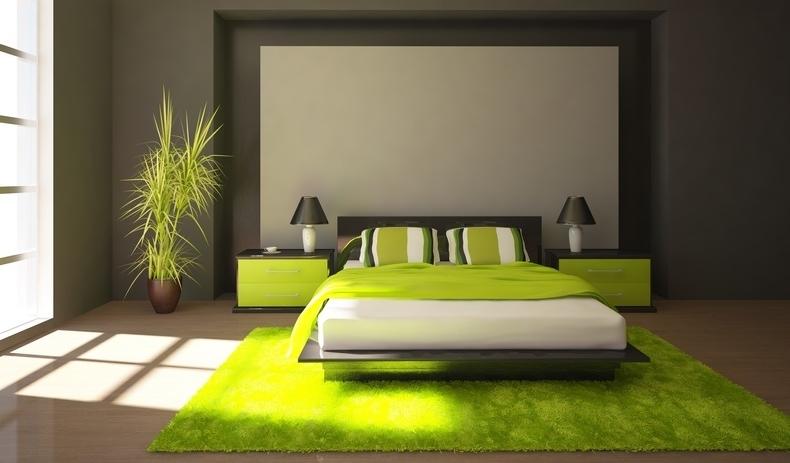 Stunning Decoration Chambre Vert Et Marron Ideas - Design Trends ...