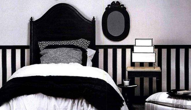 Décoration chambre noir et blanc - Exemples d\'aménagements