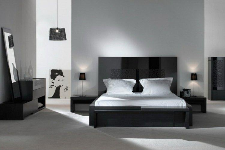 Stunning Chambre Blanc Et Noir Contemporary - Design Trends 2017 ...