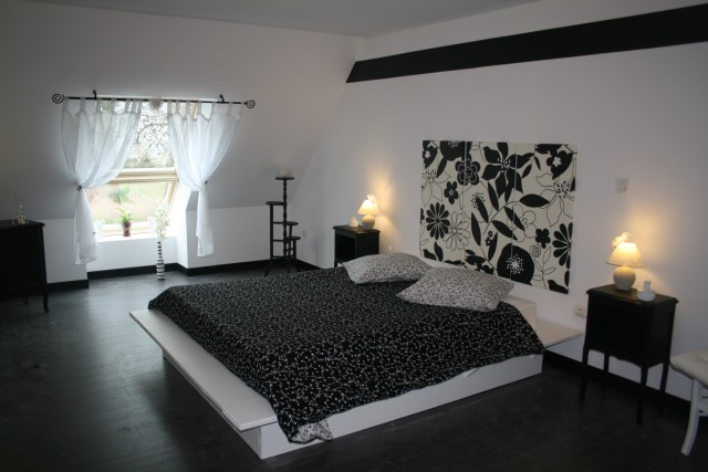 dcoration chambre noir et blanc - Peinture Noir Et Blanc Chambre