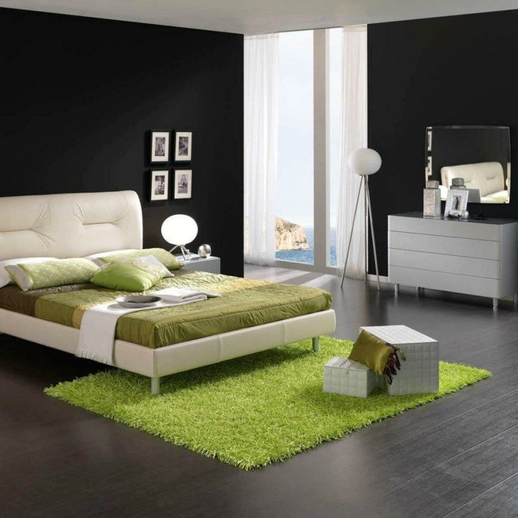 d coration chambre noir et blanc exemples d 39 am nagements. Black Bedroom Furniture Sets. Home Design Ideas