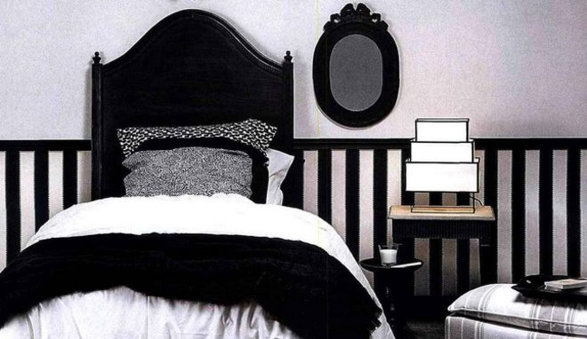 d coration chambre noire et blanc exemples d 39 am nagements. Black Bedroom Furniture Sets. Home Design Ideas