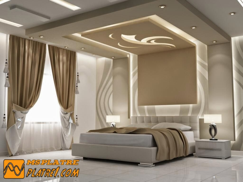 D coration chambre platre exemples d 39 am nagements for Decoration platre chambre